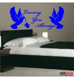 sticker de perete decorativ loving you