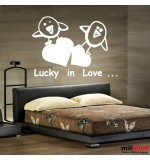autocolant decorativ lucky in love