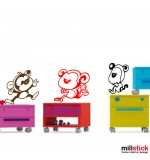 Wall Sticker decorativ maimute haioase