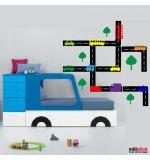 autocolant decorativ masini pe sosea
