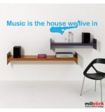 autocolant decorativ music is...