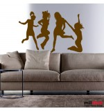 wall stickers party girls