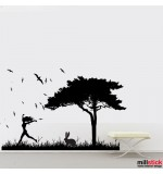 Wall sticker iepuras in iarba WLP108