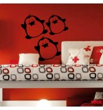 wallstickers decorativ pinguini