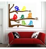 autocolante decorative de perete pasarele pe creanga