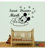 Sticker nume pentru copil Mickey Mouse WCNC30