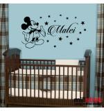 Sticker nume pentru copii Mickey Mouse WCNC27
