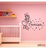 Sticker nume pentru copil Daisy Duck WCNC48