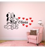 Sticker nume copil Minnie Mouse WCNC35