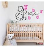 Sticker nume copil Winnie the Pooh WCNC42
