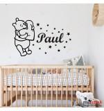 Sticker nume pentru copii Winnie the pooh WCNC44