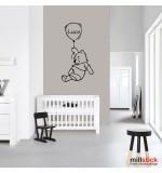 Sticker nume pentru copii Winnie the Pooh WCNC46