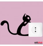 Sticker priza pisica WLI033