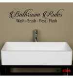 Sticker baie Bathroom rules WBF051