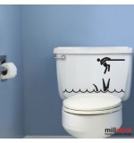 Sticker wc crocodil WBF039