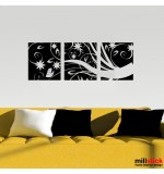Sticker banner floare abstracta WLB028