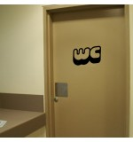 sticker de perete wc