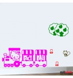 Wall sticker Hello kitty train WCWD18