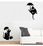 Wall sticker sobolani Banksy WLBS01