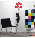 Wall sticker balloons girl Banksy WLBS07
