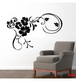 Wall sticker floare pe colt WLF151