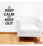 Sticker keep out WLKC07