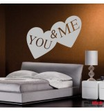 wallsticker decorativ  you and me