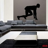 sticker decorativ atlet
