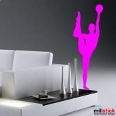 autocolant de perete gimnasta cu minge