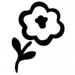 Autocolant floare WBF004