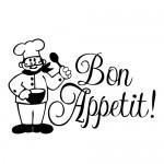 Sticker bon appetit WBB033
