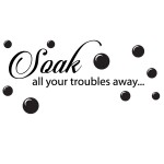 Sticker baie soak your troubles away WBF052
