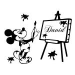 Sticker nume pentru copil Mickey Mouse WCNC39