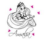 Sticker nume pentru copil Rapunzel WCNC41