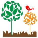 Sticker copaci cu pasare WCA811