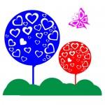 Sticker copacei cu fluture WCA815