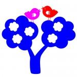 Sticker copacel cu pasarele WCA817