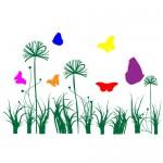 Sticker fluturasi in iarba WCAV05