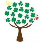 Sticker copac cu fluturi WLC301
