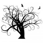 Stickere copaci cu pasari WLC113