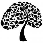 Sticker copac cu frunze WLC216