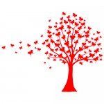 Sticker copac cu fluturasi WLC221