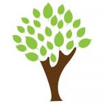 Sticker copac cu frunze WLC323