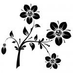 Sticker creanga cu flori WLCR13