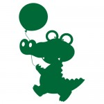 Sticker crocodil cu balon WCA111