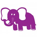Sticker elefant WCA311