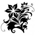 Sticker perete floare WLF102