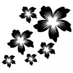 Autocolant perete floricele WLF103