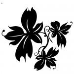 Autocolant floare WLF104