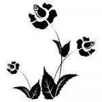 Stickere pereti  flori WLF108